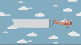 Vuelo de la bandera de los aviones almacen de video