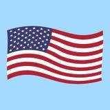 Vuelo de la bandera de los E.E.U.U. Fotos de archivo libres de regalías