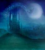 Vuelo de la bruja en una escoba libre illustration