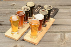 Vuelo de la cerveza Imágenes de archivo libres de regalías