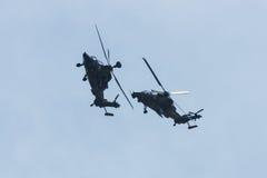 Vuelo de la demostración del UHT del tigre de Eurocopter del helicóptero de ataque Fotos de archivo