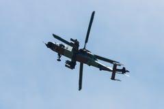 Vuelo de la demostración del UHT del tigre de Eurocopter del helicóptero de ataque Foto de archivo