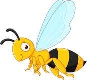 Vuelo de la historieta de la abeja Fotos de archivo libres de regalías