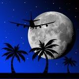 Vuelo de la luna ilustración del vector