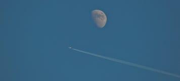 Vuelo de la luna Foto de archivo libre de regalías