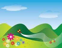 Vuelo de la mariposa Stock de ilustración