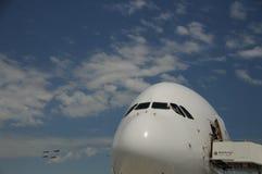 Vuelo de la versión parcial de programa de Airbus A380 en ILA Berlin Imágenes de archivo libres de regalías