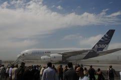 Vuelo de la versión parcial de programa de Airbus A380 en ILA Berlin Imagen de archivo libre de regalías