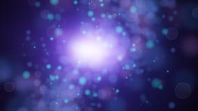 Vuelo de las partículas almacen de video