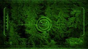 Vuelo de Nightvision sobre bosque en la oscuridad