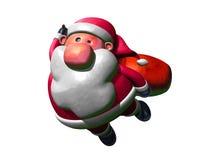Vuelo de Papá Noel Foto de archivo libre de regalías