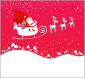 Vuelo de Papá Noel Fotos de archivo libres de regalías