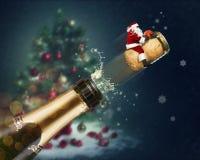 Vuelo de Santa Claus stock de ilustración