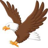 Vuelo del águila de la historieta stock de ilustración