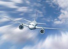 Vuelo del aeroplano Fotos de archivo