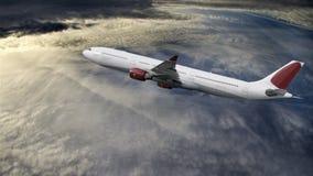 Vuelo del aeroplano Fotos de archivo libres de regalías