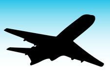 Vuelo del aeroplano ilustración del vector
