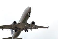 Vuelo del aeroplano Fotografía de archivo