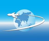Vuelo del avión de aire ilustración del vector
