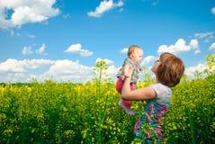 Vuelo del bebé alto Imagen de archivo