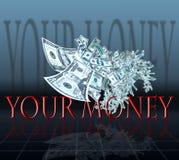 Vuelo del dinero Fotografía de archivo libre de regalías