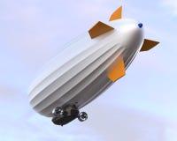 Vuelo del dirigible en el cielo imagenes de archivo