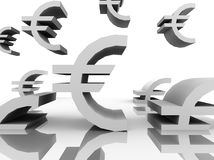Vuelo del euro \ 'de s alrededor de la composición Imágenes de archivo libres de regalías