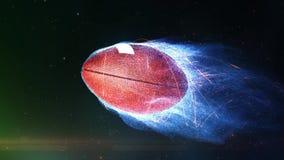 Vuelo del fútbol en lazo de las llamas 4K stock de ilustración