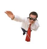 Vuelo del hombre de negocios del supermán Imagen de archivo libre de regalías