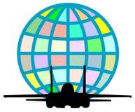 vuelo del jet Imagen de archivo