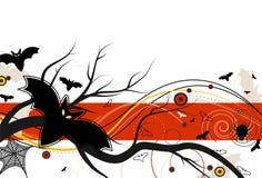 Vuelo del palo el Víspera de Todos los Santos ilustración del vector