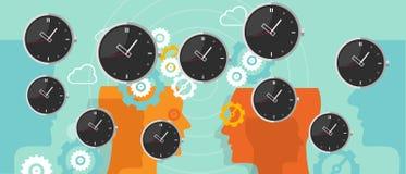Vuelo del reloj de la gestión de tiempo con concepto del negocio del engranaje libre illustration