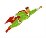 Vuelo del super héroe Fotos de archivo libres de regalías