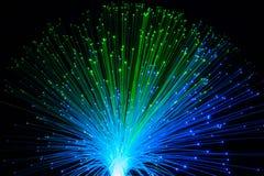 Vuelo dinámico de la fibra óptica Fotos de archivo