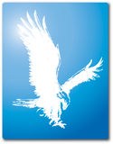 Vuelo Eagle Silhouette Vector Design Clipart Imagen de archivo