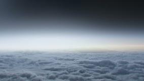 Vuelo en las nubes ilustración del vector
