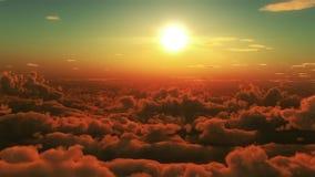 Vuelo en las nubes almacen de video