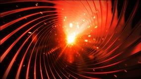 Vuelo en túnel del fuego con las chispas y la luz brillante HD 1080