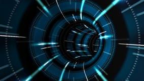 Vuelo en túnel futurista abstracto libre illustration