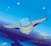 Vuelo espacial stock de ilustración