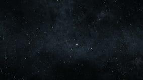 Vuelo espacial entre las estrellas ilustración del vector