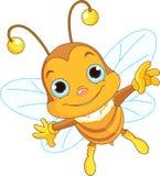 Vuelo lindo de la abeja ilustración del vector