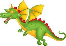 Vuelo lindo de la historieta del dragón Imagen de archivo