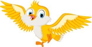 Vuelo lindo de la historieta del pájaro Imágenes de archivo libres de regalías