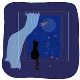 Vuelo nocturno de las brujas Fotografía de archivo libre de regalías