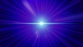 Vuelo rápido loco en hyperspace del espacio entre las nebulosas y el fondo cósmico púrpura del estrella y negro El volar rápidame libre illustration