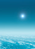 Vuelo sobre el cielo Imagen de archivo libre de regalías
