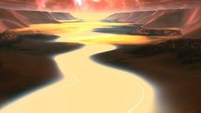 Vuelo sobre el río extranjero libre illustration