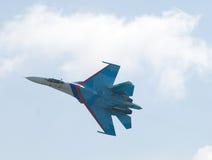 Vuelo SU-27 Foto de archivo libre de regalías