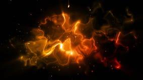 Vuelo a través de la nebulosa ilustración del vector